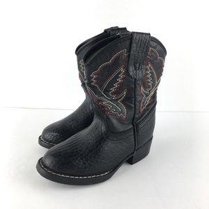 Western Plains Black Cowboy Boots Size 8